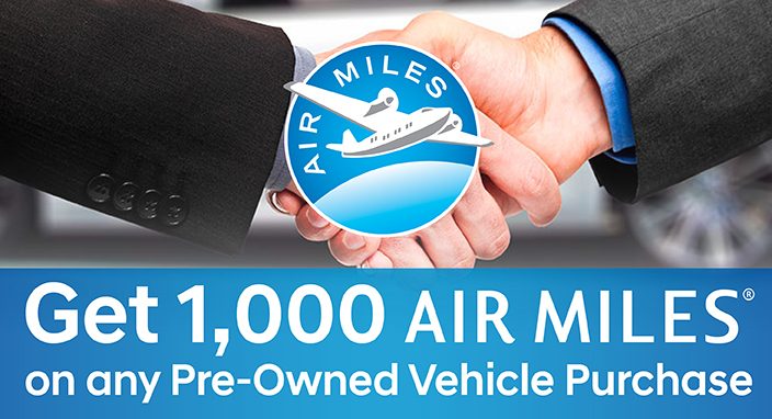1000 Air Miles Pre-Owned Vehicle