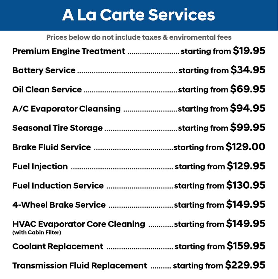 19790 TH July A La Carte Pricing for Website