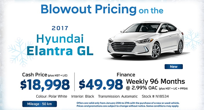 Winter Sale Elantra GL