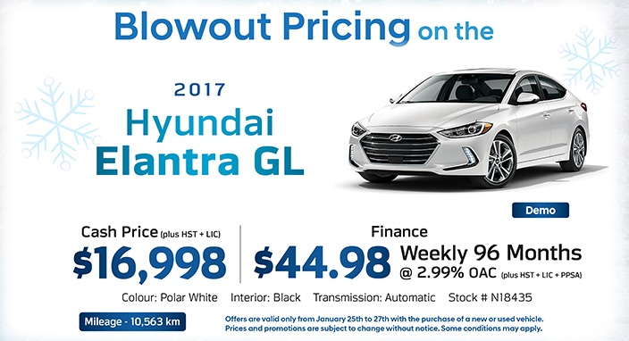 Winter Sale Elantra New