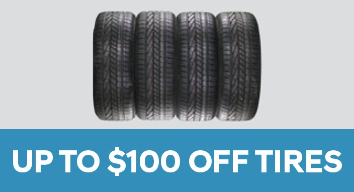 Up to $100 OFF Tires