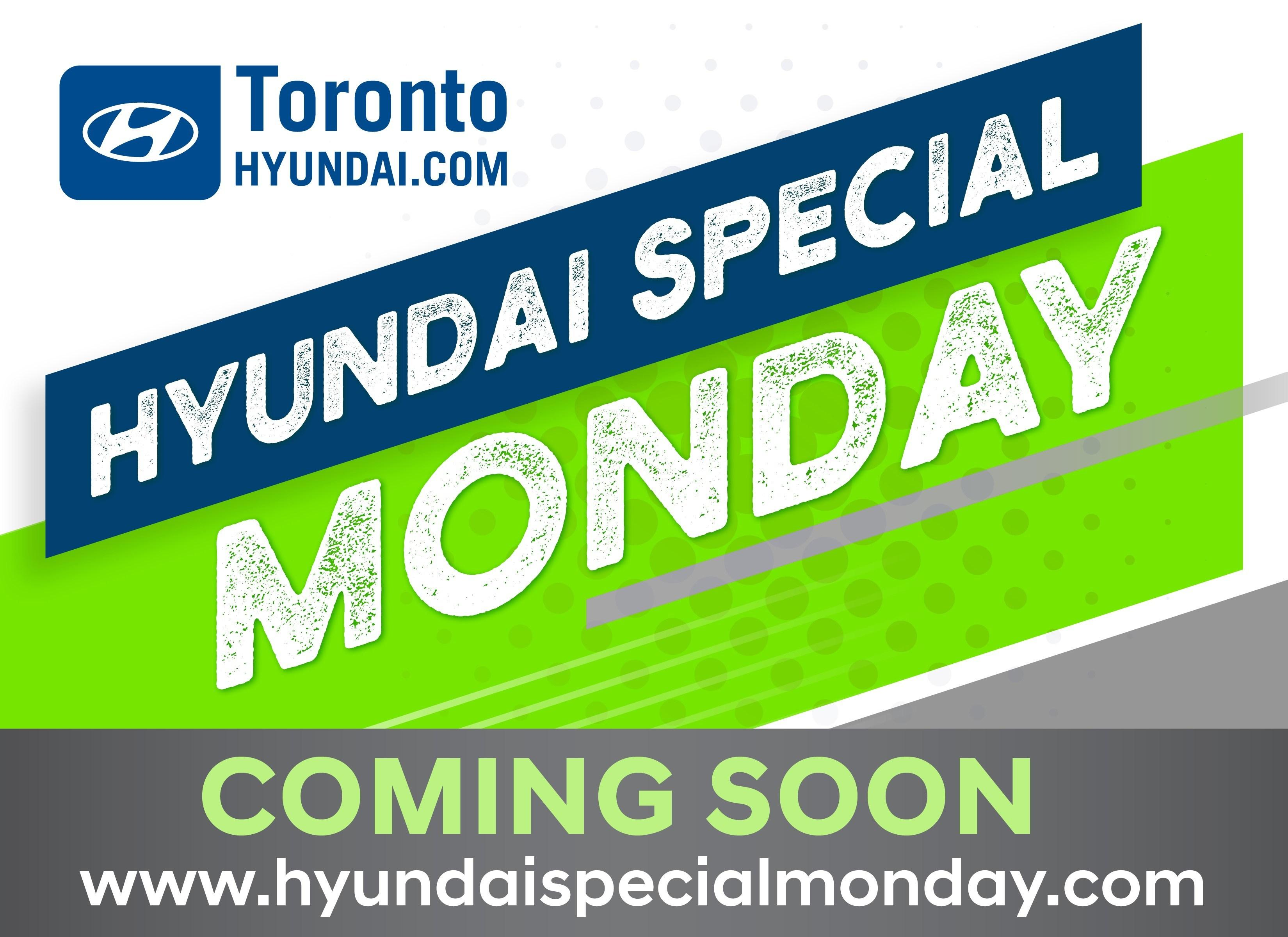 Hyundai Special Monday coming soon - lime green