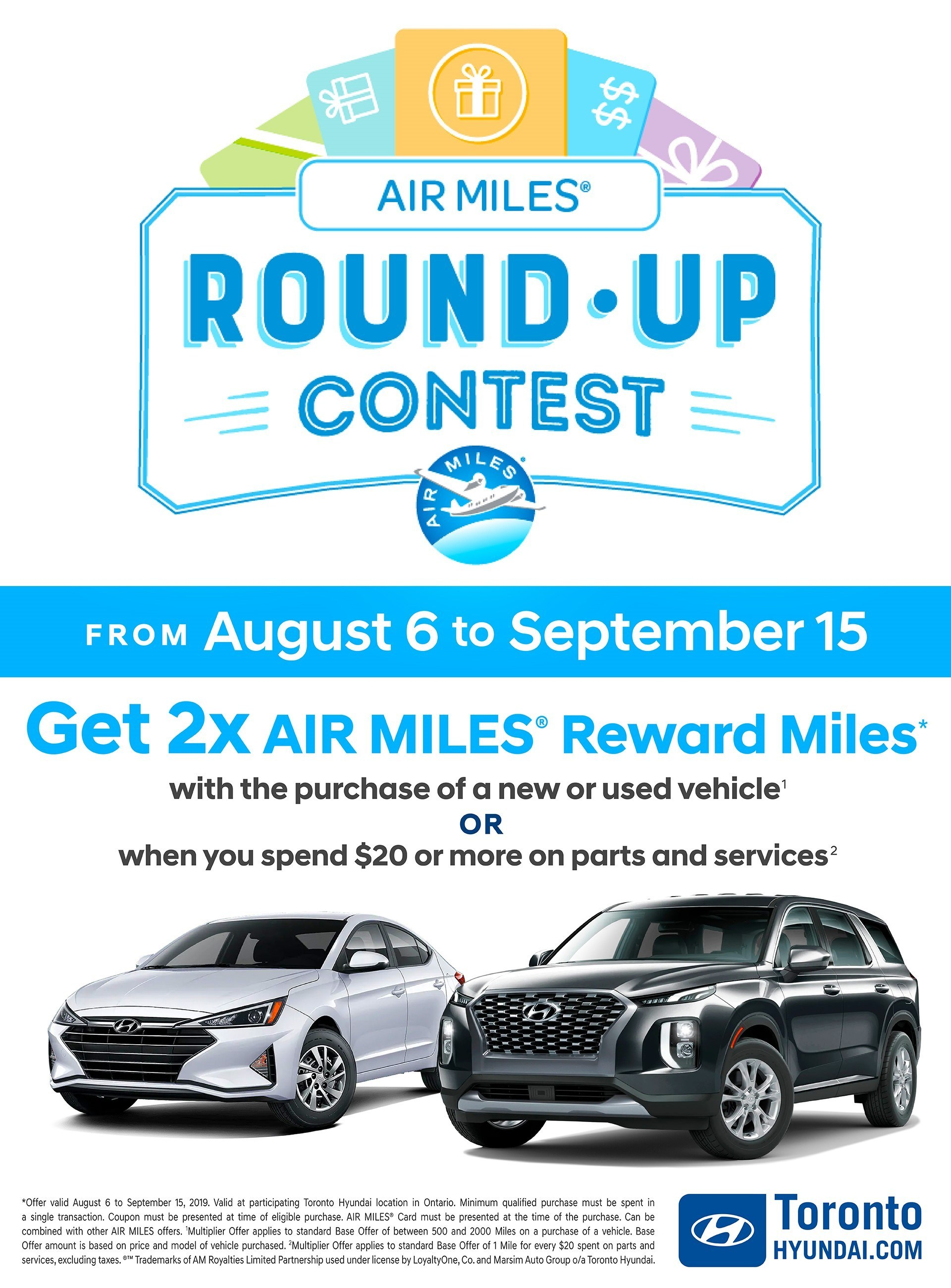 Air miles round up landing page